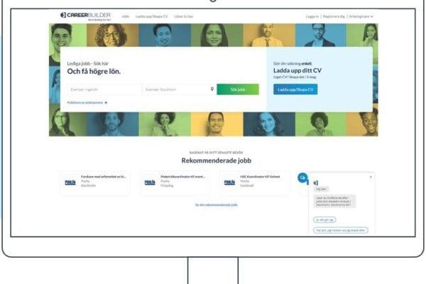 Informativ plattforms bild CareerBuilder