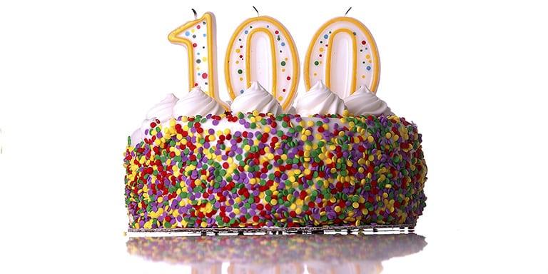 bild på en tårta 100 dagar